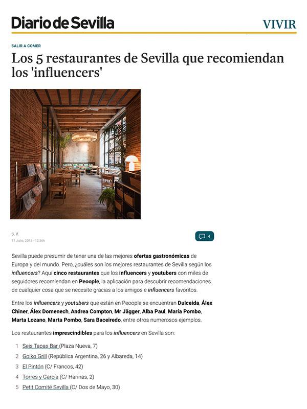 los 5 restaurantes de Sevilla que recomiendan los influencers